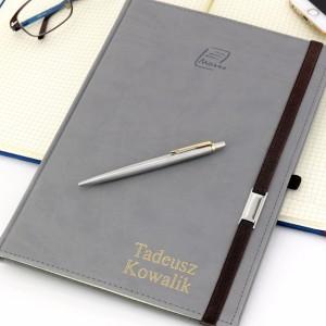 notes + grawer w zestawie z długopisem parker