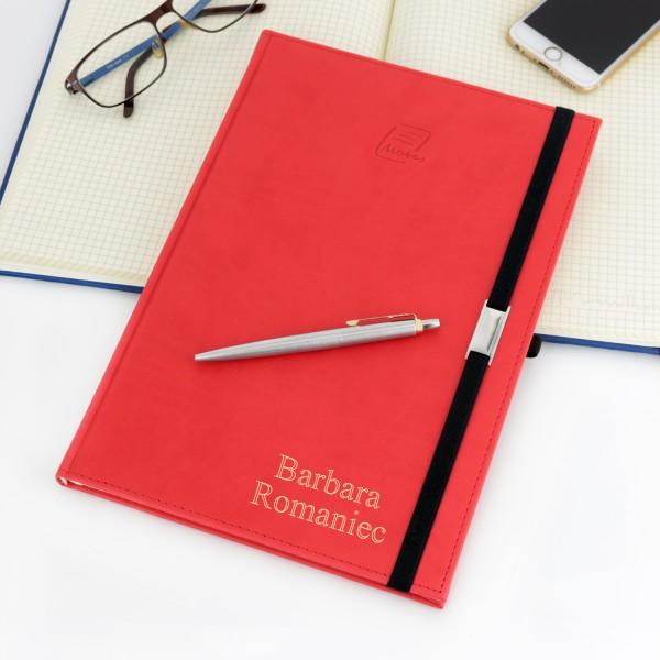 notes z grawerem + długopis