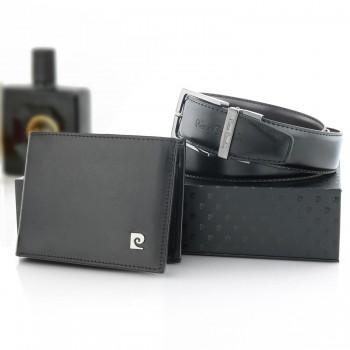 bf2b8a8d33512 Zestaw skórzany Pierre Cardin pasek i portfel z grawerem na prezent