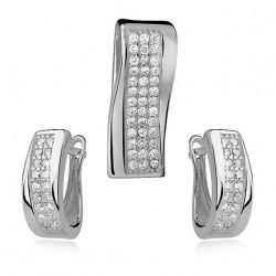 personalizowany komplet srebrnej biżuterii