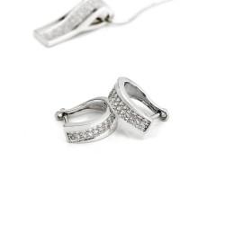 srebrne kolczyki dla kobiety