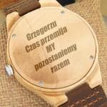 grawerowany zegarek
