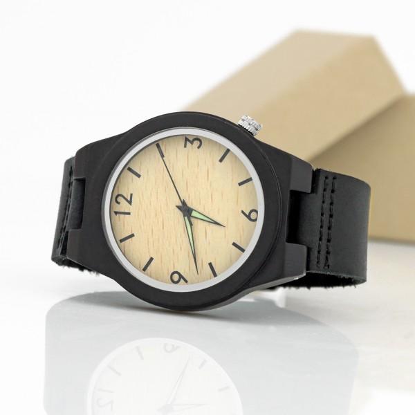 4339f897ddc0ab Zegarek drewniany na rękę + grawer - prezent dla Niego