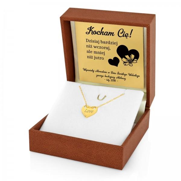 pozłacana bransoletka na prezent dla dziewczyny