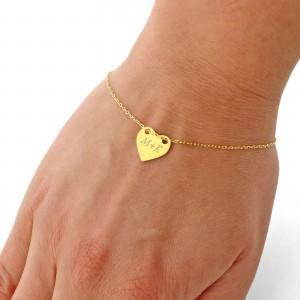 bransoletka serce z grawerem