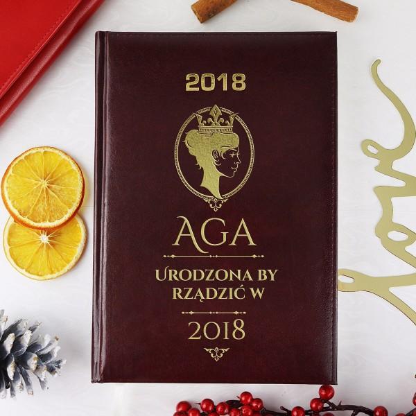 kalendarz na 2018 rok z grawerem imienia na prezent