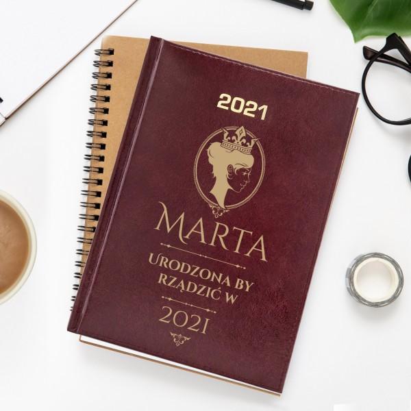 kalendarz z grawerem dla niej na 2021 rok