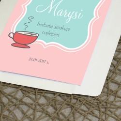 prezent dla babci - spersonalizowana kartka z życzeniami