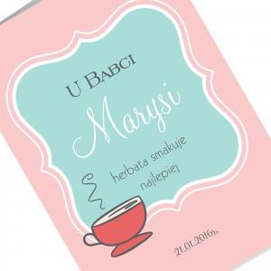 kartka z życzeniami na prezent na dzień babci