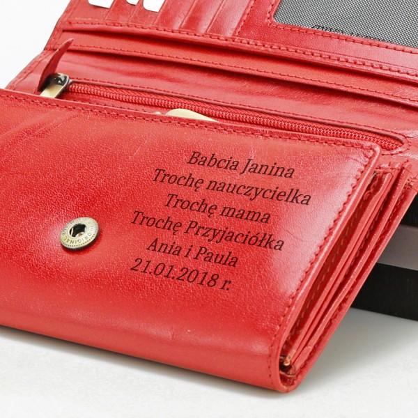 c9b00872e9b28 Grawerowany portfel damski z Twoim grawerem