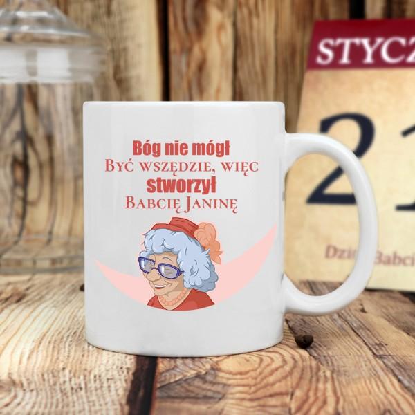kubek klasyczny z nadrukiem imienia - prezent dla babci