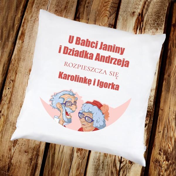 poduszka z nadrukiem - prezent dla dziadków