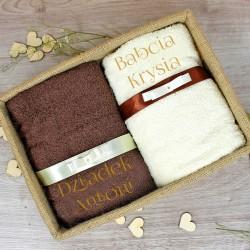 ręczniki z haftem imion