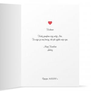 kartka z życzeniami na prezent dla niej