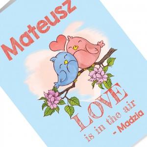 kartka z personalizacją na walentynki dla chłopaka