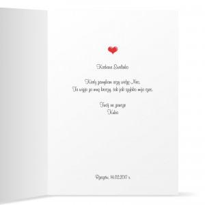 kartka z własnymi życzeniami dla niej