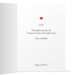 kartka z życzeniami na walentynki