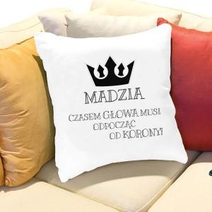 poduszka z nadrukiem imienia - pomysł na prezent