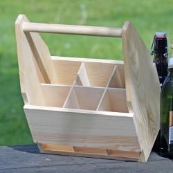 drewniana skrzynka na 6 piwo