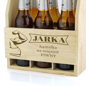 skrzynka na piwo drewniana
