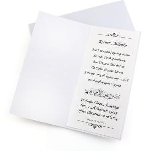 kartka z okazji chrztu świętego - ręcznie robiona