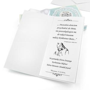 kartka ręcznie robiona z personalizacją - prezent na chrzest