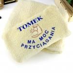 oryginalny prezent dla niego ręcznik z haftem imienia