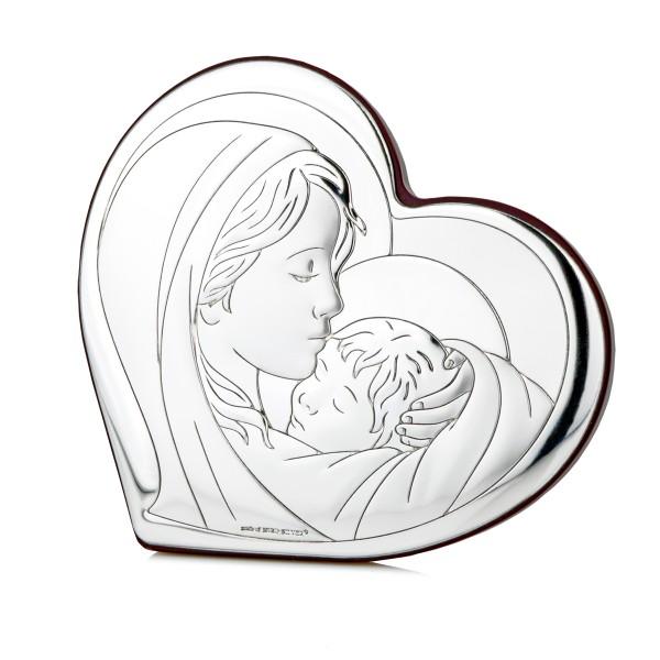 prezent na chrzest - srebrny obrazek
