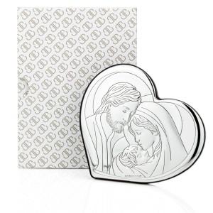 srebrny obrazek z grawerem - na chrzest