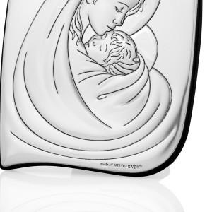 prezent na chrzciny obrazek srebrny matka boska