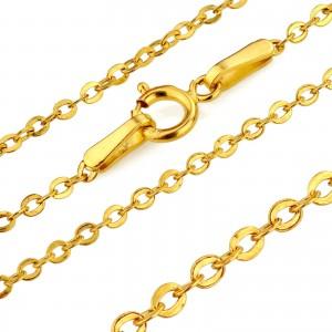 łańcuszek złoty 585 na prezent z okazji chrztu