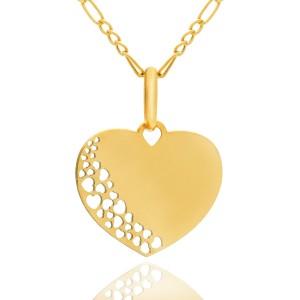 złota biżuteria pr. 585 z personalizacją na I Komunię