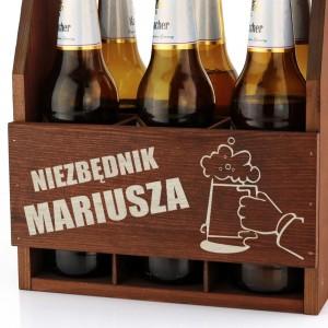 grawerowana skrzynka na piwo dla kolegi