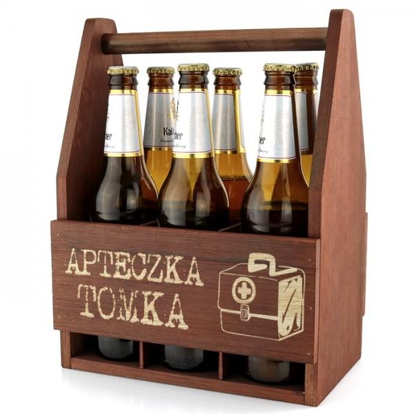 skrzynka na piwo z grawerem dedkacji