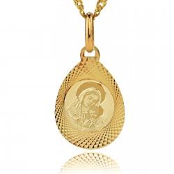 złoty medalik z Matką Boską na prezent