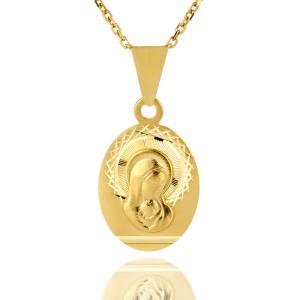 medalik z Matką Boską na prezent z okazji chrztu