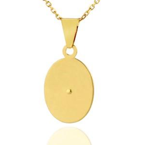 pamiątka Chrztu Świętego - srebrny medalik ze złoceniem