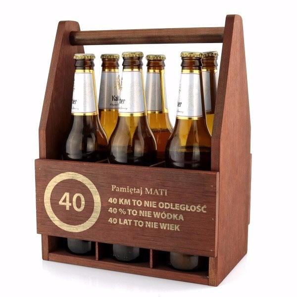 nosidło na piwo z grawerem na urodziny
