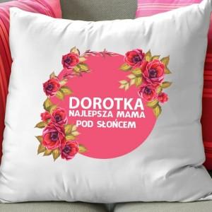 dekoracyjna poduszka z własnym nadrukiem na prezent dla mamy