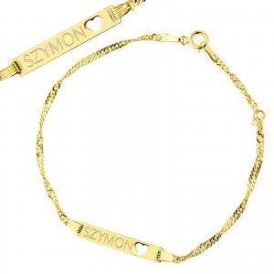 bransoletka ze złota pr. 585