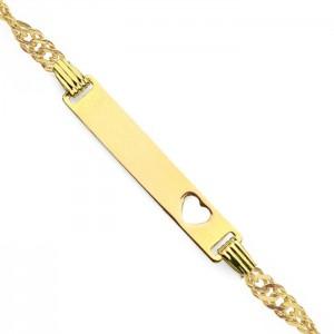 personalizowana złota bransoletka