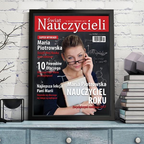 okładka magazyny ze zdjęciem nauczyciela