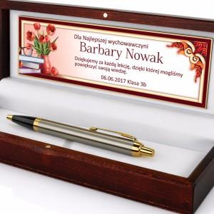 spersonalizowany długopis Parker w etui dla nauczyciela
