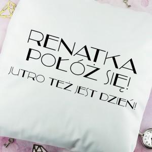 dekoracyjna poduszka z nadrukiem dla dziewczyny