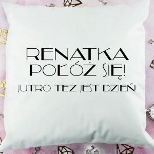 ozdobna poduszka z zabawnym nadrukiem