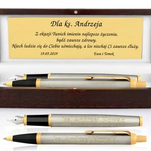 pióro i długopis parker z grawerem dla proboszcza