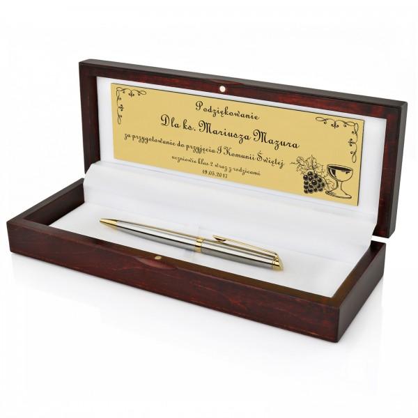 długopis waterman z grawerem na podziękowanie dla księdza