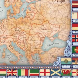 mapa europy na płótnie z personalizacją dla księdza