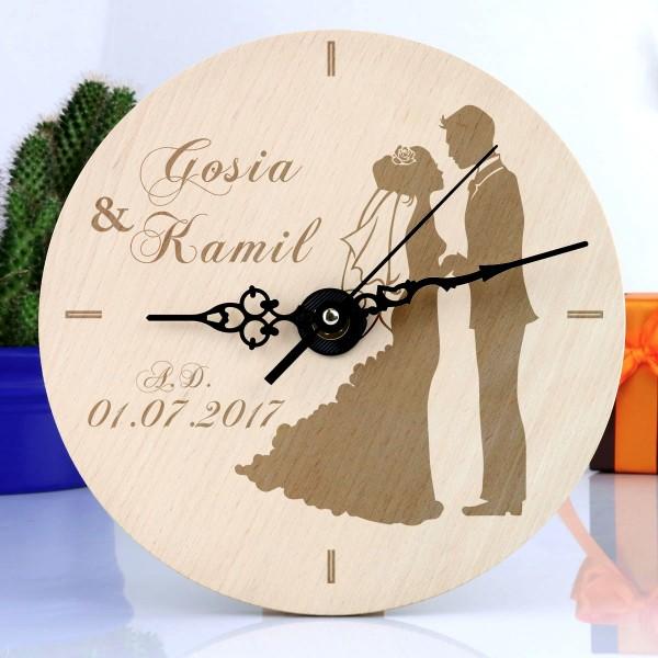 zegar z personalizacją na ślub