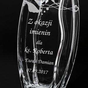 wazon swarovski z grawerem na imieniny księdza